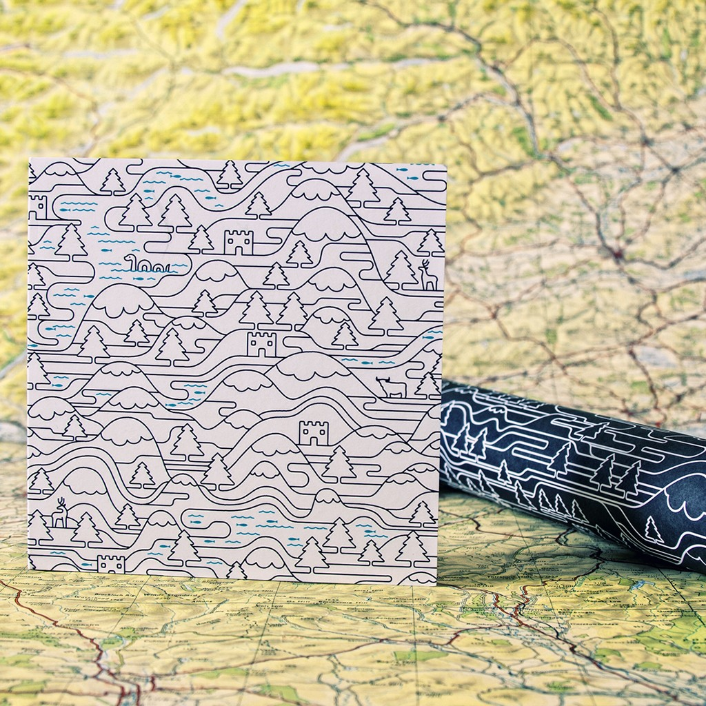 Scotland Wired Card & Gift Wrap
