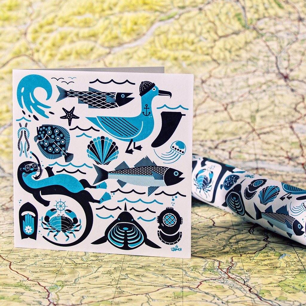 Sealife Card & Gift Wrap
