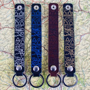 Wired Map Key Chain