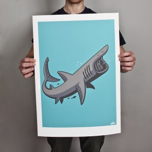 Basking Shark Print